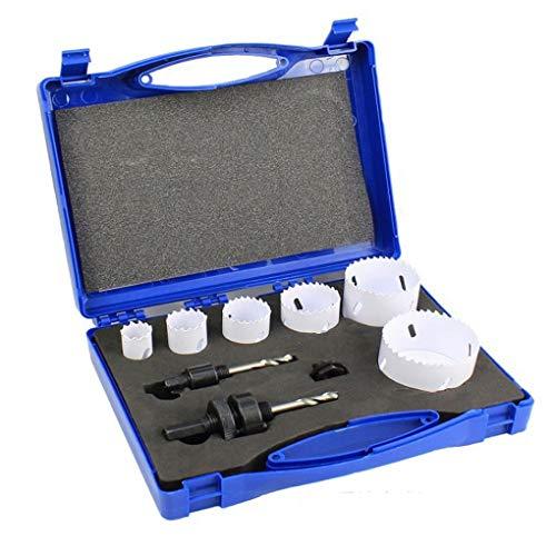 Demino 9PCS / Set Lochsäge Kit Bohrwerkzeug Holz Metall Cutter 3/4 Schneiden