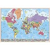 Grupo Erik Editores TSEH293 - Vade escolar con diseño mapa del mundo