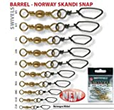 BARREL - NORWAY SKANDI SNAP Gr. 1 Tragkraft: 45kg --NORWAY - Wirbel mit SCANDIC von Spro