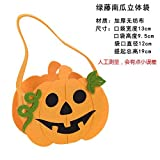 HOMEE Accessoires de décoration d'Halloween Jouets déguisés en accessoires Sacs de cadeau de poche de citrouille cellulaire Sac de tissu de poche de sucrerie, sac de citrouille de chapeaux,Sac vert d