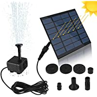 SunTop Bomba de Agua Solar, Bomba de la Fuente del baño Solar Lindo, Panel Derecho Libre Jardín Solar Kit de Bomba de Agua, al Aire Libre riego Bomba Sumergible 7V 1.2W