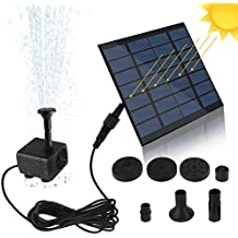 SunTop Bomba de Agua Solar, Bomba de la Fuente del baño Solar Lindo, Panel