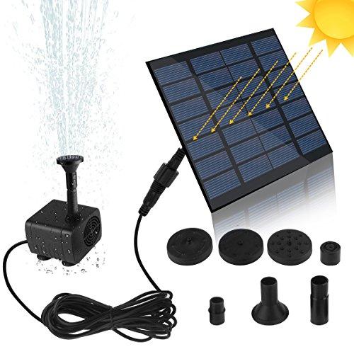 Especificaciones:   Tipo de panel solar: panel solar de silicio policristalino  Panel solar: 7V / 1.2W  Tamaño del panel solar: 110 * 110 mm  Potencia de la bomba: 9V / 1.4W (para panel solar 1.5W)  Max. Flujo de la bomba: 180L / H (para paneles sol...