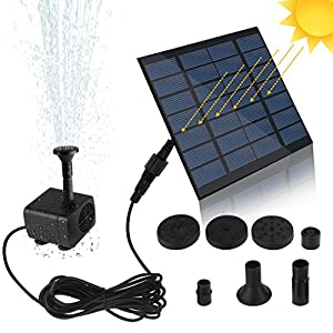 SunTop Bomba de Agua Solar, Bomba de la Fuente del baño Solar Lindo, Panel Derecho Libre Jardín Solar Kit de Bomba de Agua, al Aire Libre riego Bomba Sumergible