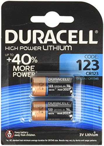 Duracell Ultra Lithium Batterie (Duracell Specialty Ultra Typ 123 M3 3 V Lithium Fotobatterie, (2er pack))