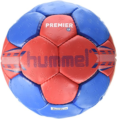 Hummel 1.5 Premier - Balón de balonmano para adulto multicolor Red/Blue Talla:3