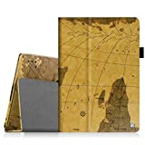 Fintie Lenovo Tab 2 A10 Case - [Folio Fit] Premium PU Leather Stand Cover with Auto Sleep/Wake Feature for Lenovo Tab2 A10-70 10-Inch Android Tablet, Map Brown