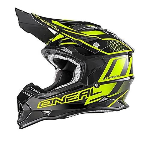 O'Neal 2Series RL MX Helm Manalishi Schwarz Neon Gelb Motocross Enduro Quad Cross ABS, 0200-02, Größe XL (61/62 cm)