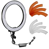 """Neewer Camera Photo/Video 18""""/ 48cm Outer 55W 240PCS LED SMD Ring Light 5500K Dimmable Ring Video Light with Plastic Color Filter Set + Universal Adapter with UK Plug"""