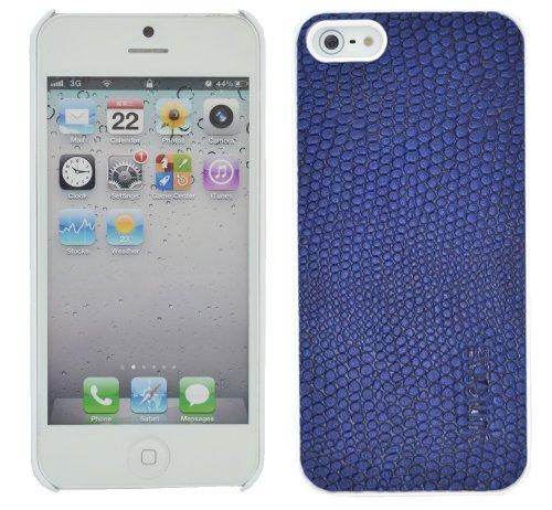 Suncase Étui de protection pour Apple iPhone 5/5S/avec languette d'extraction Bleu (Estate)