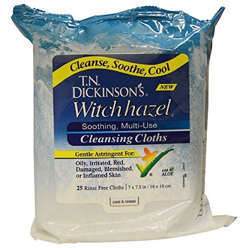 T.N. Dickinson`s Witch Hazel Cleansing Cloths 25 ct NEW by Dickinson's