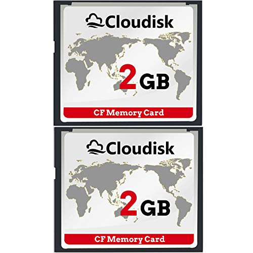 Cloudisk 2X CF-Karte Compact Flash 2 GB Speicherkarte Leistung für Vintage Digitalkamera 2 Compact Camera Case