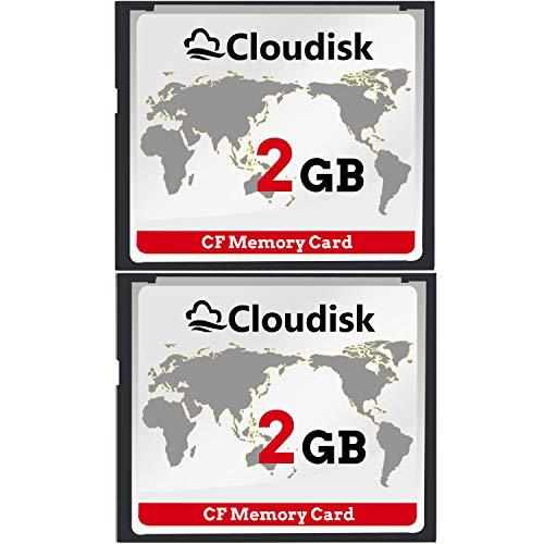 Cloudisk 2X CF-Karte Compact Flash 2 GB Speicherkarte Leistung für Vintage Digitalkamera (2gb Cf)