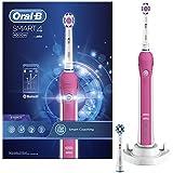 Oral-B Smart4 4000W3DWhite Brosse À Dents Électrique Rechargeable Par Braun, 1Manche Connecté Rose, 3Modes Dont Blancheur Et Douceur, 2Brossettes