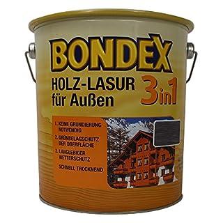 Bondex Holzschutzlasur 3in1-2,5 l - ebenholz - Grundierung und Holzschutz für Holz im Außenbereich