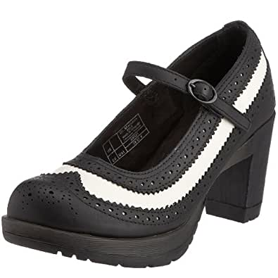 Dr. Martens Womens Orla Buckle Black/White 13245010 3 UK Regular