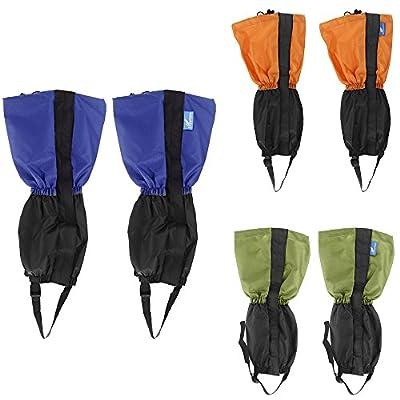 asmaza(TM) Waterproof Windproof Outdoor Legging Gaiters Warm Protection Guard Skiing Hiking Climbing Orange/Green/Blue by asmaza