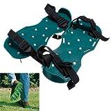 funnytoday365Rasenpflege Garten Rasen Schuh Luftsprudler Sandalen mit Spike Spikes einfach zu verwenden grün