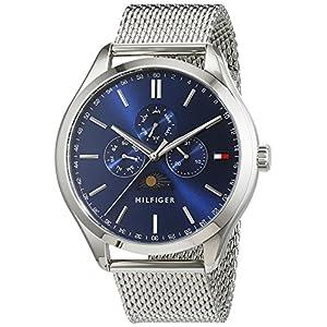 Tommy Hilfiger Herren Analog Quarz Uhr mit Edelstahl Armband 1791302