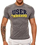"ajaxx63 ""User"", T-Shirt, grau"