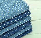 FidgetGear Denim-Stoff, halber Meter Baumwolle, Jeans,