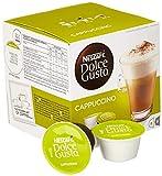 Nescafé Dolce Gusto Cappuccino | Kaffeekapseln | 100% Arabica Bohnen | leichter Kaffeegenuss mit cremigem Milchschaum | 8 Kapseln Milch & 8 Kapseln Kaffee | 3er Pack (3 x 16 Kapseln)