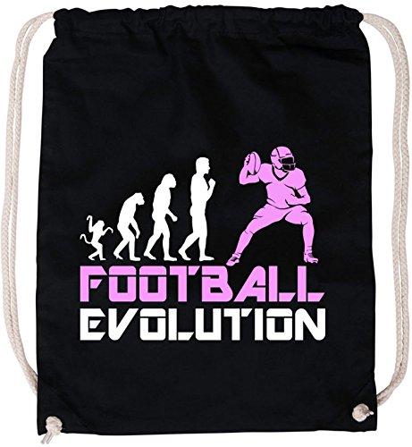 EZYshirt® Football Evolution Baumwoll Stoffbeutel