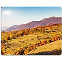 Mousepads Majestic mattina paesaggio di montagna con colorato e cielo blu foresta autunnale Carpathian Ukraine Image ID 22229145 by Liili Customized Mousepads Stain Resistance Collector kit Kitchen Table top Desk drink Customized Stain Resistance Collector kit Kitchen Table top Desk