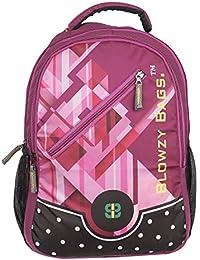 Good Feel Pink Printing Backpack   Laptop Bag   College Bag   School Bag