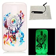 [Extremadamente Delgada] Funda 3D Silicona Transparent para Motorola Moto G4 Play , Funda TPU Ultra Slim para Motorola Moto G4 Play , TOCASO Case Fina Slim Fit Cristal Clear, Noctilucent Cover Glittering Bling Cute Pattern Colored Painting Flexible Material Antigolpes Antigravedad Anti-Impacto Anti-Shock Back Shell con Bumper Lightweight Carcasa para Chica y Girls Friends - Cervatillo de Color + 1x Negro Stylus Pen