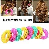 Gorgeousy Lockenwickler Spiral Curls Styling Kit-14 Pcs No Heat Lockenwickler Machen Kunststoff für langes Haar und große Locken über Nacht