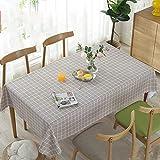 Tischdecke Esstisch Wasserdichte und ölbeständige Tischdecke Wave Side Dekorative Tischdecke Rechteckige Quadratische Antifouling Tischdecke,Style3,135 * 180cm