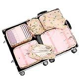Belsmi Reise Kleidertaschen Set 7-teilig Reisetasche in Koffer Reisegepäck Organizer