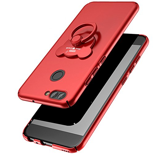 Kompatibel mit Huawei Nova 2 Hülle,Huawei Nova 2 Schutzhülle,ikasus [Bär Ständer] Matte Harte Schutzhülle Case Hülle Schlank Hardcase Handyhülle Handy Hülle Tasche Schutzhülle für Huawei Nova 2,Rot