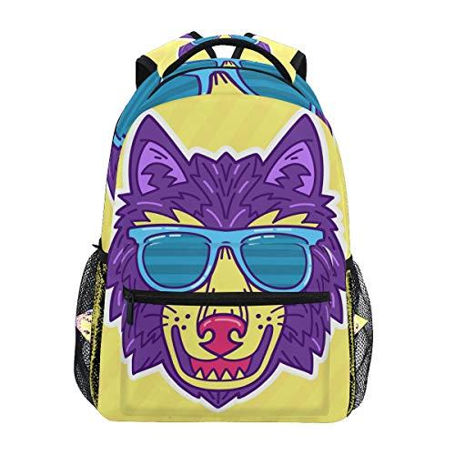 Kühler Niedlicher Wolf Studentenrucksack Kinderrucksack Büchertasche Schülerrucksack mit Laptop Rucksäcke für die Reise Teen Mädchen Jungs
