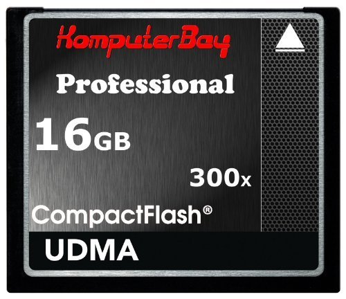 Komputerbay 16gb high speed compact flash cf 300x ultra high speed card 10mb/s write and 52mb/s read by komputerbay