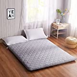 Love House Futon matratze,Japaner Tatami Boden Matte Schlafen Faltbare Roll-up matratze Atmungsaktive Hautfreundliche Non-Slip Bett mat-grau 180x200cm(71x79inch)