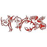lepni.me 3029_R Autoaufkleber Tribal Jagd (Red)