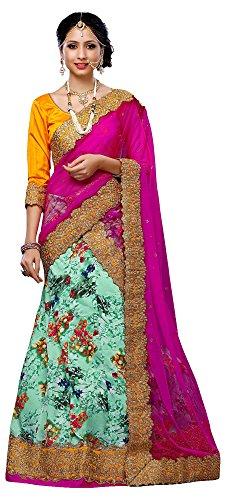 Gajiwala Sarees Women's Bhagalpuri Silk Unstitched Lehenga Choli (Multi-Coloured)