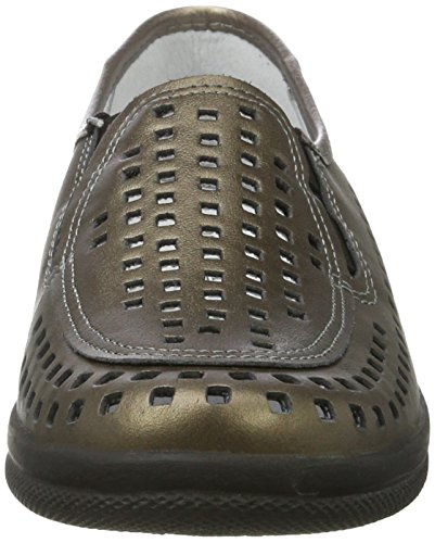 Comfortabel Damen Slipper, gold, Leder, 941815-82 gold