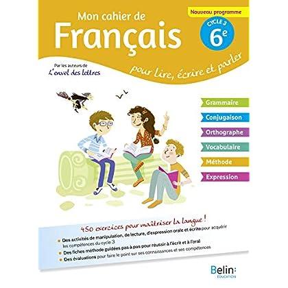 Mon cahier de français 6éme