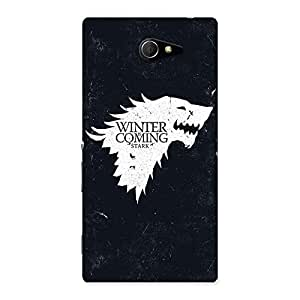 Gorgeous Comming Of Winter Back Case Cover for Sony Xperia M2