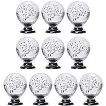 IFOLAINA Paquete de 10 bolas de bolas Cristal Cristal Cabinet Perilla Tirador de cajón Tirador Tirador 30mm