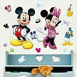 Naldesa Mickey Maus Minie Mouse Wandsticker Wandtattoo Disney Aufkleber Wandaufkleber