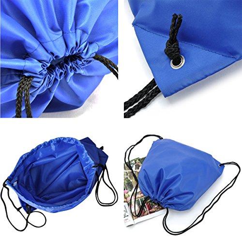 Imagen de 6 pack  saco bolsas de cuerdas de deporte coolzon® bolso gimnasio de nylon gymsack drawstring bags seca del lazo ocio de viaje de entrenamiento de natación playa escuela alternativa
