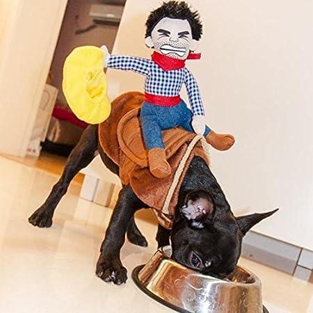 Pet Hund Halloween Kostüm Cowboy Funny Hund Riders Kleidung (Small)