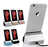 ivee international™ Desk Charger, charge and Sync Dock Stand with Lightning 8pin Cable Connector Compatible With ipad iPhone 6S 6 Plus SE 5S 5 (Mix Color)