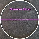 Großkreis XXL Metallic Weiß Diam. 90cm für Lampenschirm, Ring Epoxidharz weiß Traumfänger