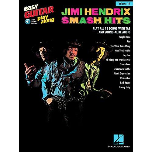 Easy Guitar Play-Along Volume 14: Jimi Hendrix - Smash Hits (Book/Online Audio). For Chitarra