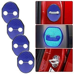 SHUNAN-EU Auto Reflektierend Türschlossabdeckung Blue For M azda 8 6 2 3 CX-5 CX7 Axela Atenza Innenraum Schutz Zubehör Türverriegelung Abdeckung 4PCS